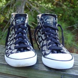 Coach High Top Sneakers Shoes A1505 Cardinal 6.5 B